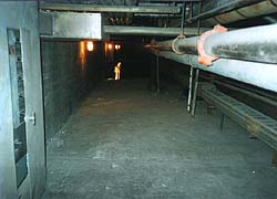 the wide steam tunnels under Central Tech