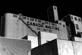 The Canada Malting Plant as seen from outside.