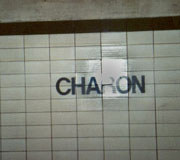 Charon Sign in Lower Bay.